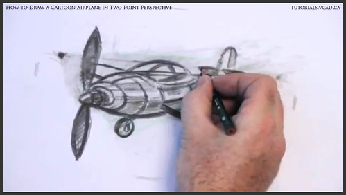 learn how to draw a cartoon airplane in two point perspective 044