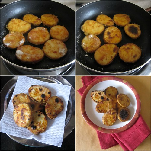 Kananga Phodi - Tawa fried Sweet Potatoes-step3