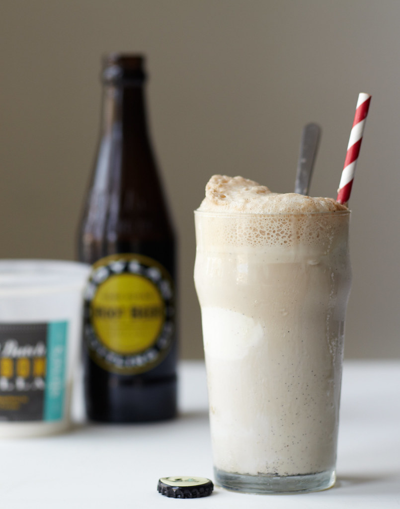 Bourbon Vanilla Root Beer Float
