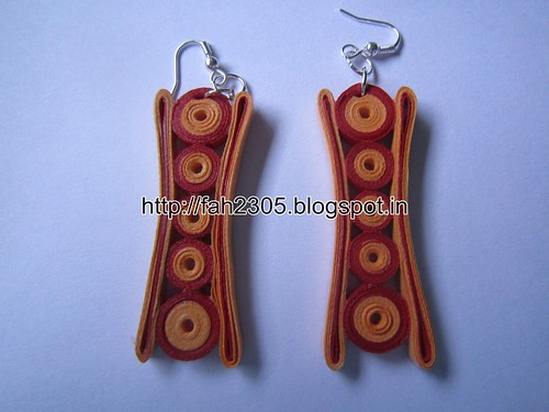Handmade Jewelry - Paper Quilling Earrings (Concave) (1) by fah2305