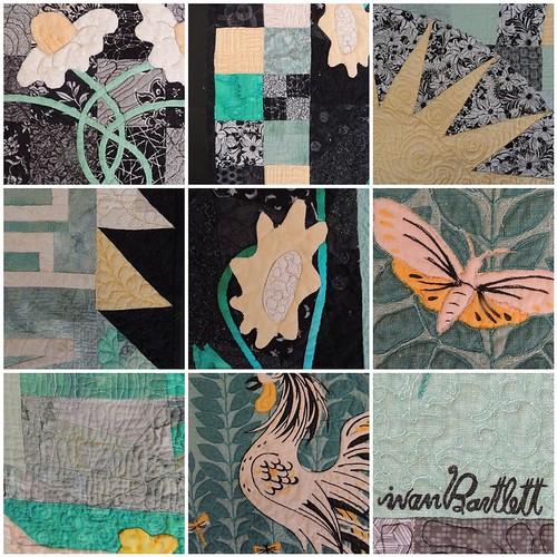 Tea Towel Quilt Details Mosaic