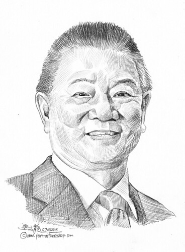Pencil portrait for Chinese Swimming Club Ronald Lam - 13