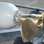 Zijlsloep optional gear: here the 2.0kW engine is mounted with a two-blade bronze folding propellor