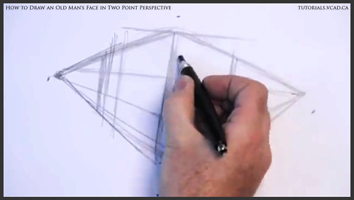 learn how to draw an old man's face in two point perspective 003