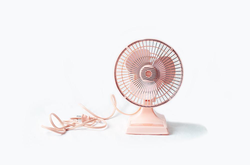 Vintage Pink Desk Fan