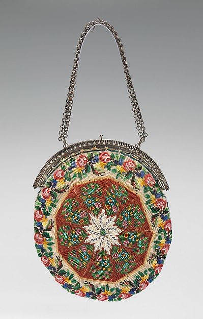 c 1880. Mexican. Glass, linen, silk. metmuseum