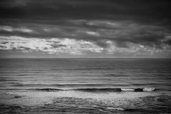 Photograph: The Pacific. Overcast, and warmer than it looks.