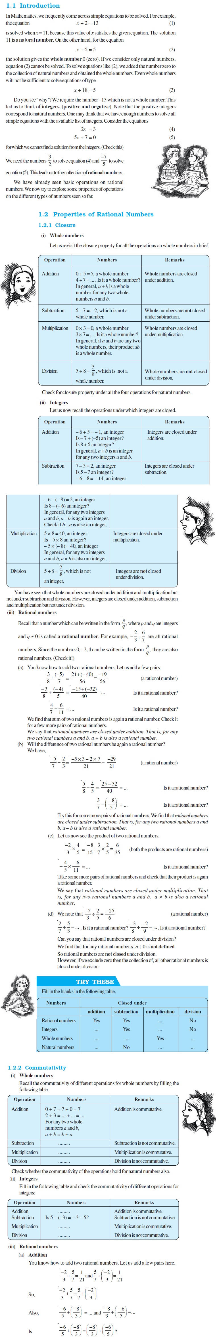 NCERT Class VIII Maths Chapter 1 Rational Numbers