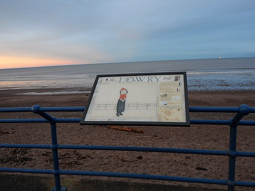 Spittal Promenade on Lowry Trail in Berwick upon Tweed