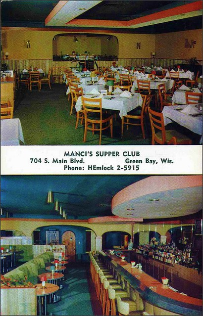 Manci 39 S Supper Club Cocktail Bar Green Bay Wisconsin 1950s Flickr Photo Sharing