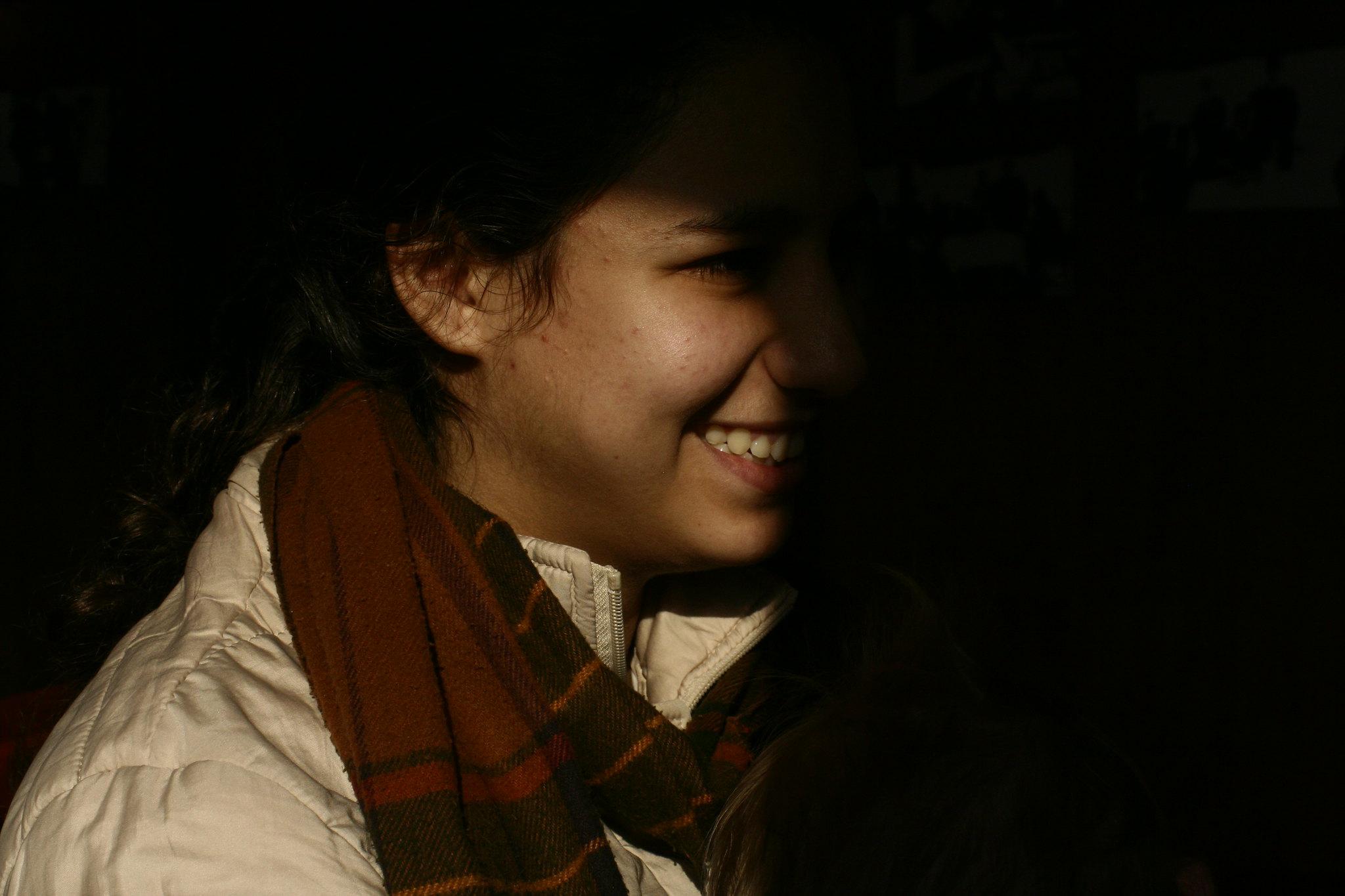 Sunlit smile.