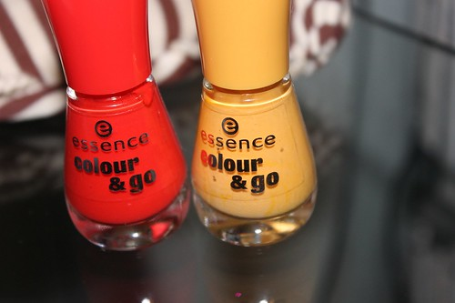 Essence Nail Polish in Little Miss Sunrise & Redvolution