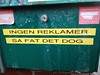 Ingen reklamer - så fat det dog