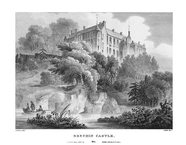etching: Brechin Castle