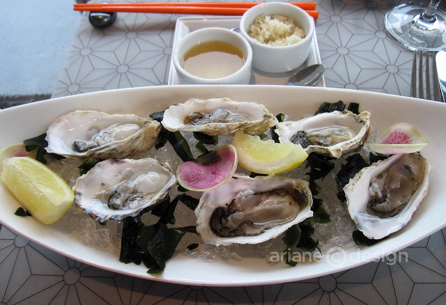 ORU Sawmill Bay oysters at Fairmont Pacific Rim
