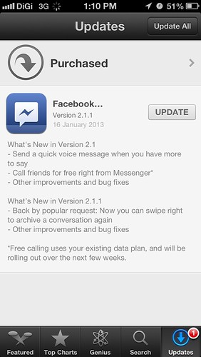 Facebook Messenger with VoIP
