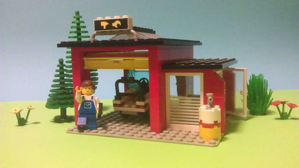 Lego 6369 1 Garage 1985 Mallardine Flickr