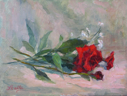 Red Rose Study by elle3b