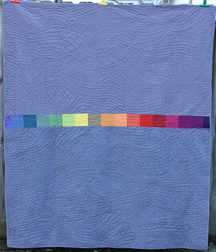 Rainbow Plus Quilt, back