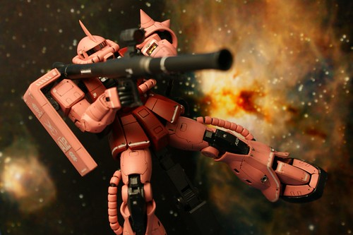 "Real Grade 1/144 - MS-06S Zaku II ""Char Aznable Custom"" - Completed 7 -"