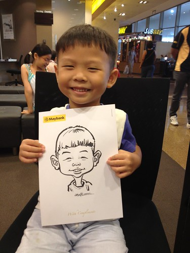 caricature live sketching for Maybank Roadshow - 5