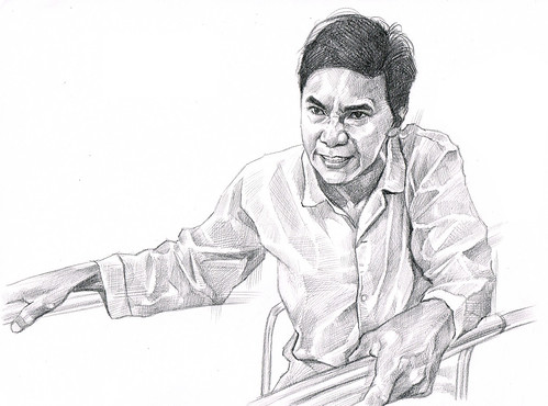黄炯耀 portrait in pencil