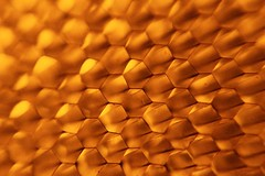 honeycomb, yellow, amber, close-up,