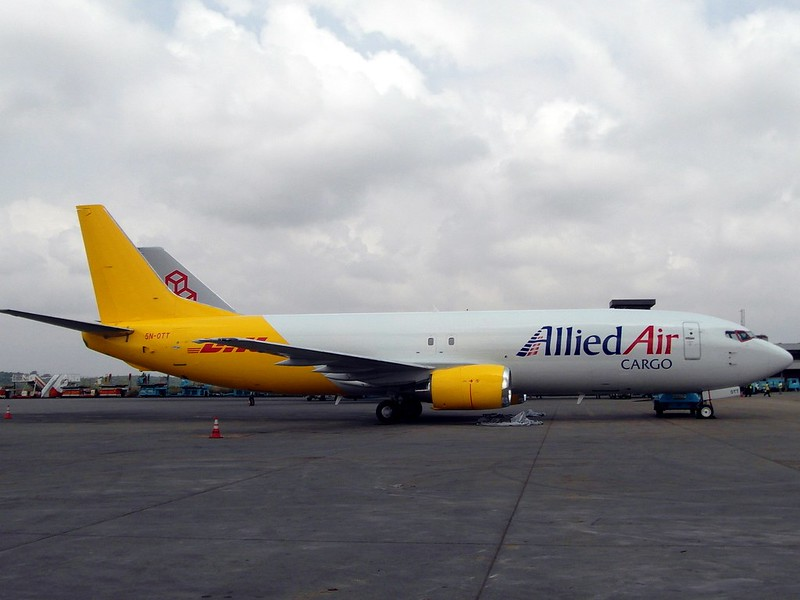 Allied Air Cargo / DHL - B737-400F - 5N-OTT (copyright Superspotter)