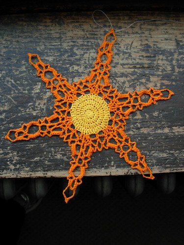 Crocheted Snowflake by Snowcatcher