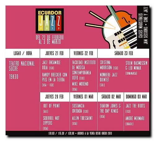 cartaz Festival Jazz - Quito