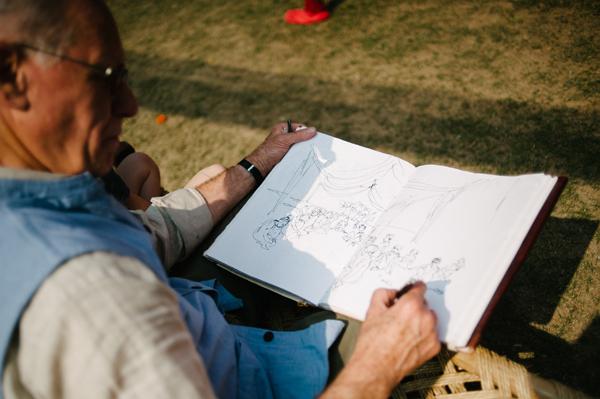 Philippe Dumas, sketching