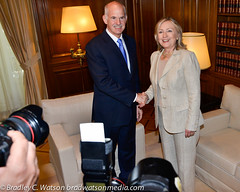 Secretary Clinton and PM Papandreou