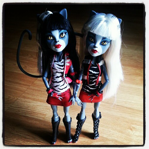 ADAD 27/365 - Monster High Werecat Twins by Among the Dolls