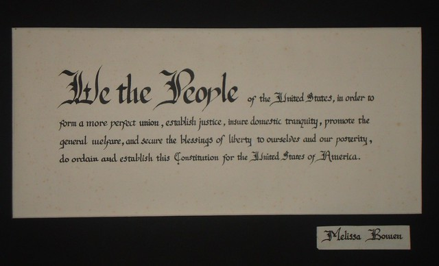 Preamble to the constitution i did in