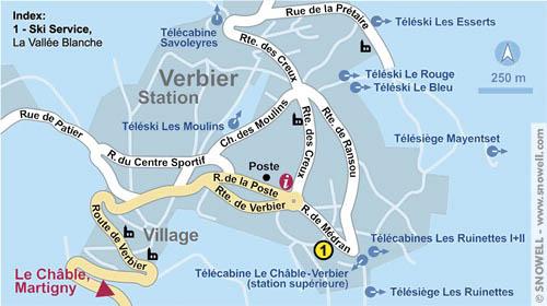 Mapa de Verbier