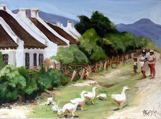 Cottages with ducks