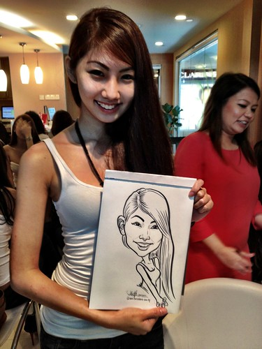 caricature live sketching for Orchard Scotts Dental for Miss Universe Singapore - 8