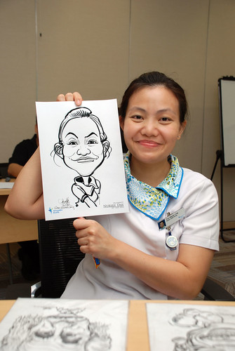 caricature live sketching for Khoo Teck Puat Hospital, Nurses' Day - 7