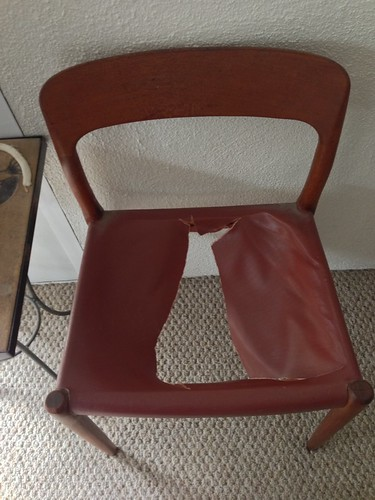 Six chairs needing repair