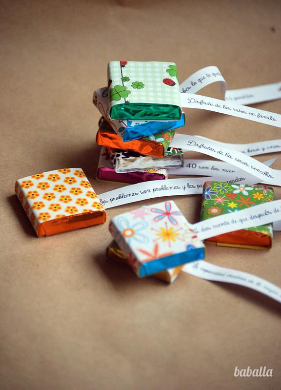vuestras ideas regalo personalizado con chocolatinas diy