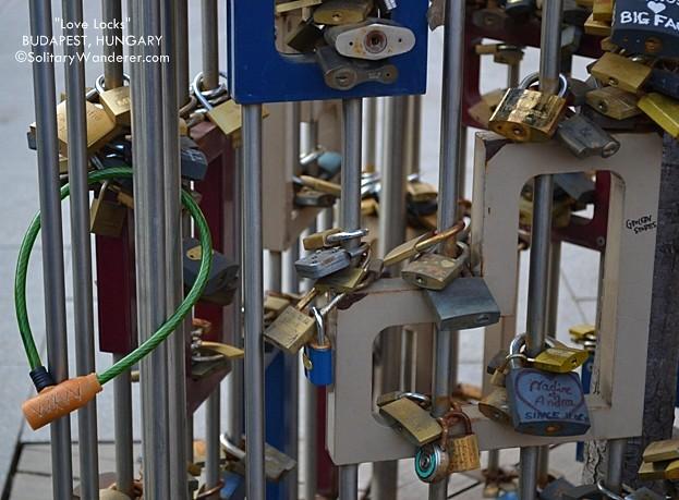 Love padlocks in Budapest