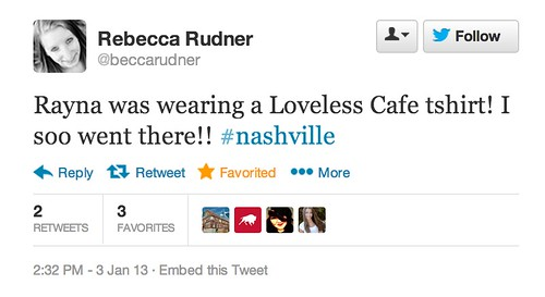 Loveless Cafe Shirts on NASHVILLE