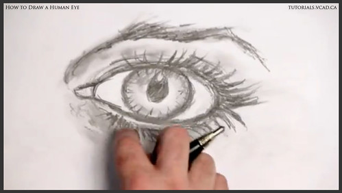learn how to draw a human eye 027