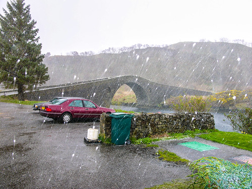 Bridge over the  Atlantic in a hailstone shower, 2005