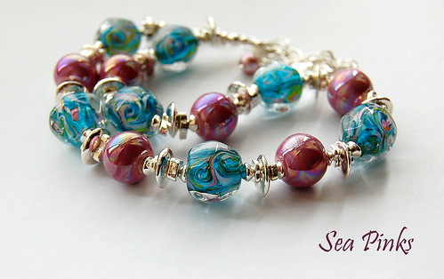Sea Pinks Necklace by gemwaithnia