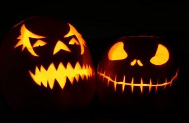 Calabazas típicas de Halloween