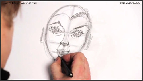 learn how to draw a womans face 017