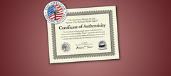 Certificate of Authenticy