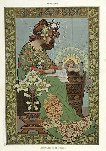 012-Alegoria del mes de Diciembre- Gaspar Camps-Revista Álbum Salón-Enero de 1901 -Hemeroteca de la Biblioteca Nacional de España