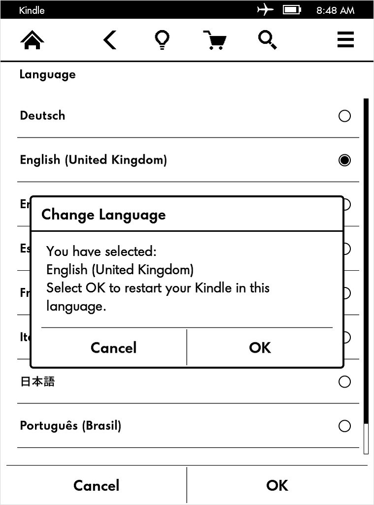 How to change your preferred language on Kindle Paperwhite
